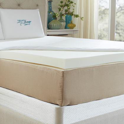 Natures Sleep HD Memory Foam Mattress Topper