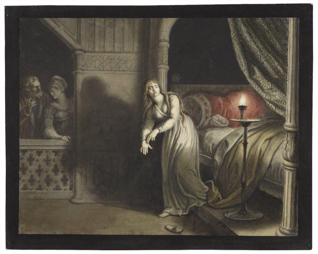 ( Lady Macbeth aroused from sleep and Sleepwalking - Image Courtesy of luna.folger.edu )