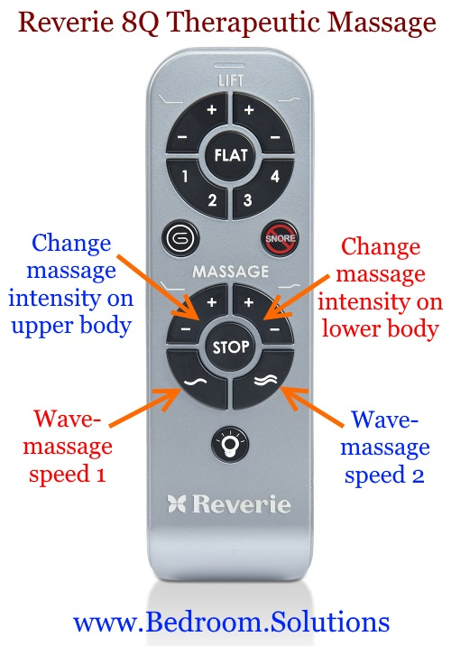 Massage Options on the Reverie 8Q