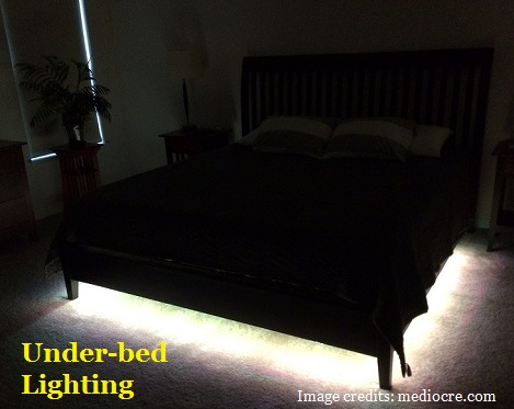Under bed lighting of the top rated adjustable bed frames