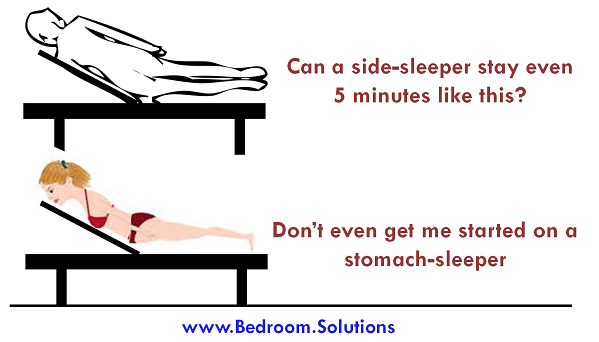 stomach and side sleepers on adjustable bed