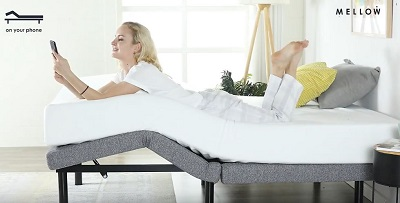 Feet up adjustable bed position