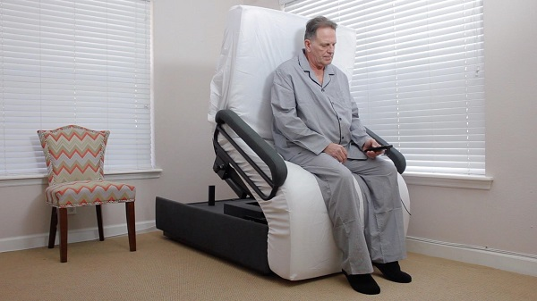 Sit to stand adjustable bed for seniors