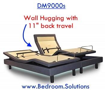 Wall Hugging of DM9000s Adjustable Bed