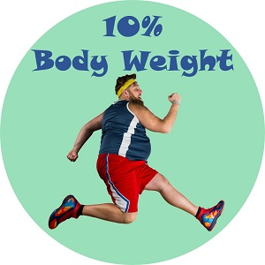 10 percent of body weight