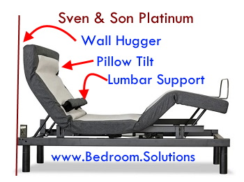 Sven & Son adjustable bed lumbar support