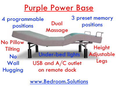 Purple Adjustable Power Base