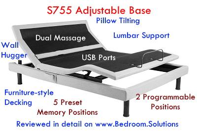 Plushbeds S755 Adjustable Bed Base