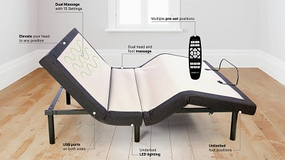 Ghostbed adjustable bed frame