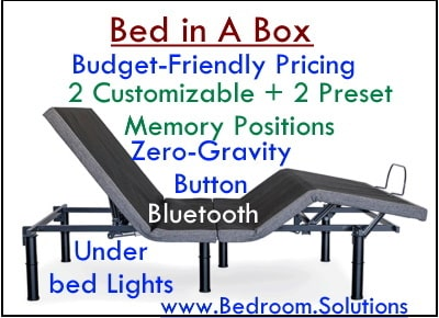 Bed in a box adjustable base