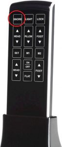 Legget and Platt Prodigy 2.0 capacitive remote controller - snore button