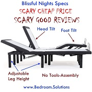 Blissful Nights Cheap Adjustable Bed